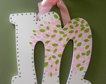 Floral Botanica Hand Painted Letter