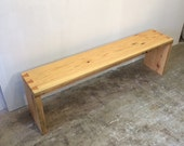 Salvaged Driftwood Spruce Dovetailed Bench