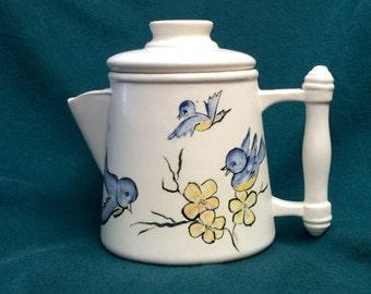 Handmade Bluebird Ceramic Creamer Pitcher