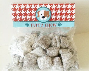 INSTANT DOWNLOAD - Puppy Chow Birthday Pawty Favors Treat Toppers