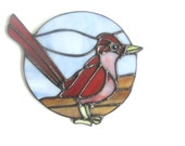 Stained Glass Roadrunner Suncatcher