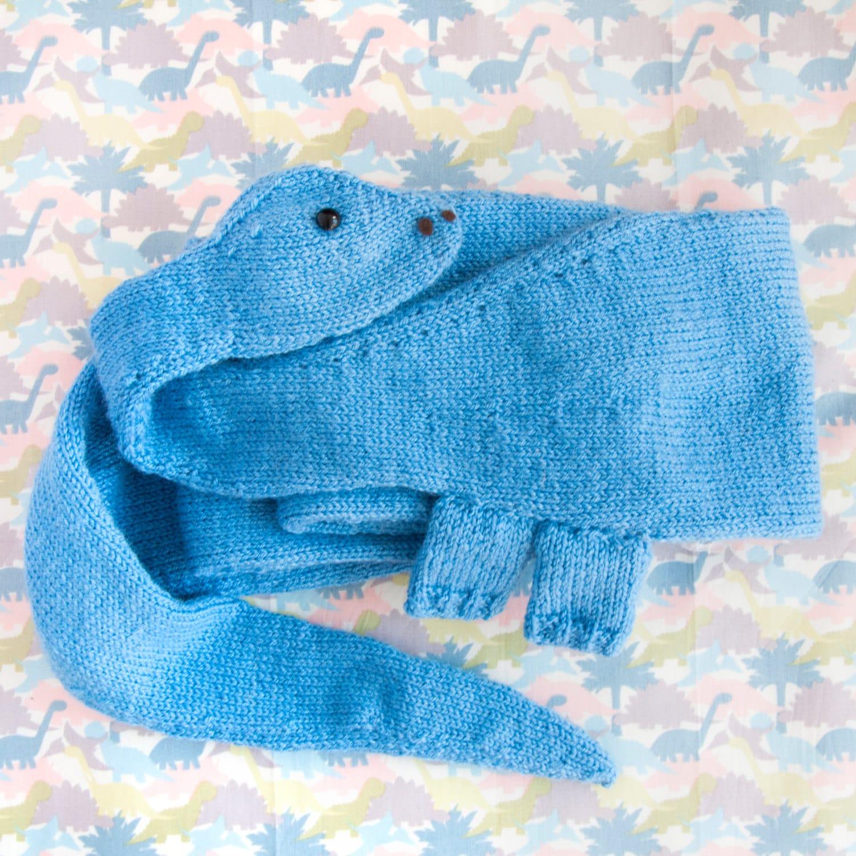Knit Dinosaur Pattern : Jurassic Park Diplodocus Scarf Knitting Pattern PDF Only