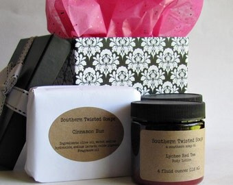 Birthday Soap Boxed Gift Set - Two Soaps and Two Lotions - Bath and Beauty Gift Set - Anniversary Gift - Birthday Gift