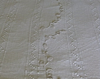 French lace bed cover unused crochet lace bedspread with deep fringing
