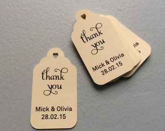 Thank You Tags - Custom Tags - Wedding Favor Tags - Gift Tag - Gift Tag With Saying - Shower Favor Tags