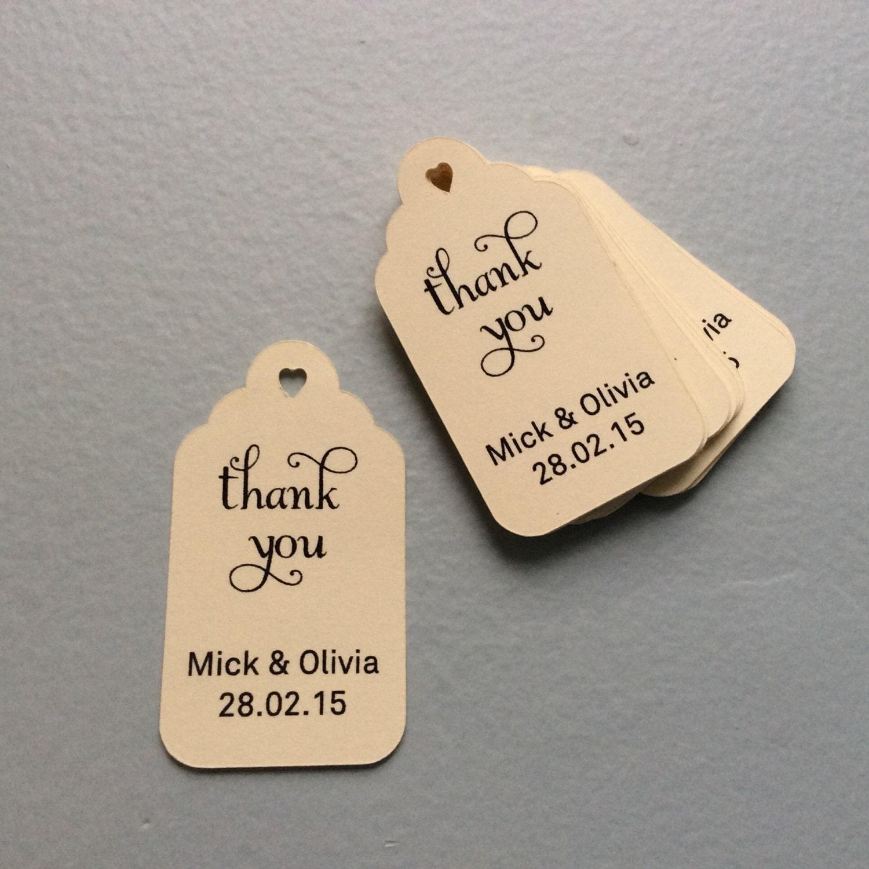 Wedding Favor Gift Tags : Wedding Thank You Tags Custom Tags Wedding Favor Tags