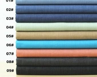 Summer Denim Cotton Fabric, Lyocell Tencel, Yarn Dyed Jutecell medium weight denim, Solid, Plain, Garment, diy, Sewing 1/2 yard  (QT526B)