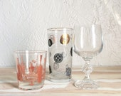 Vintage Eclectic Bar Glass Set