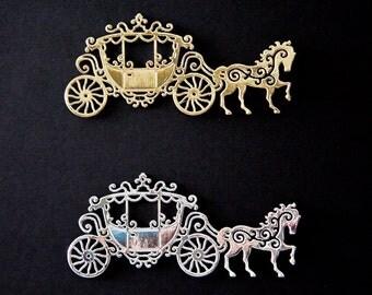 Silver Carriage Die Cut