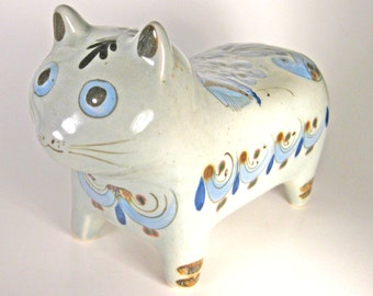 Cat Vintage Mexican Pottery El Palomar