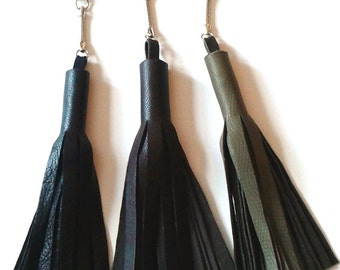 SALE! Leather Fringe Tassel Keychain