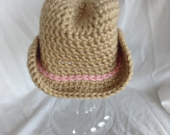 Baby Girl Cowboy Hat Crochet