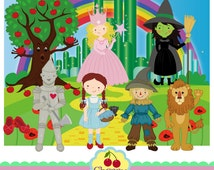 Wizard of OZ Cute Digital Clipart,Dorothy Digital Clip Art -Personal and Commercial Use
