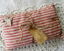 Primitive Pin Keep, Sawdust Pillow, Pincusion, Pillow,  Hand Sewn,  Small Accent Pillow