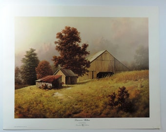 "Dalhart Windberg Painting ""Timeworn Shelters"""