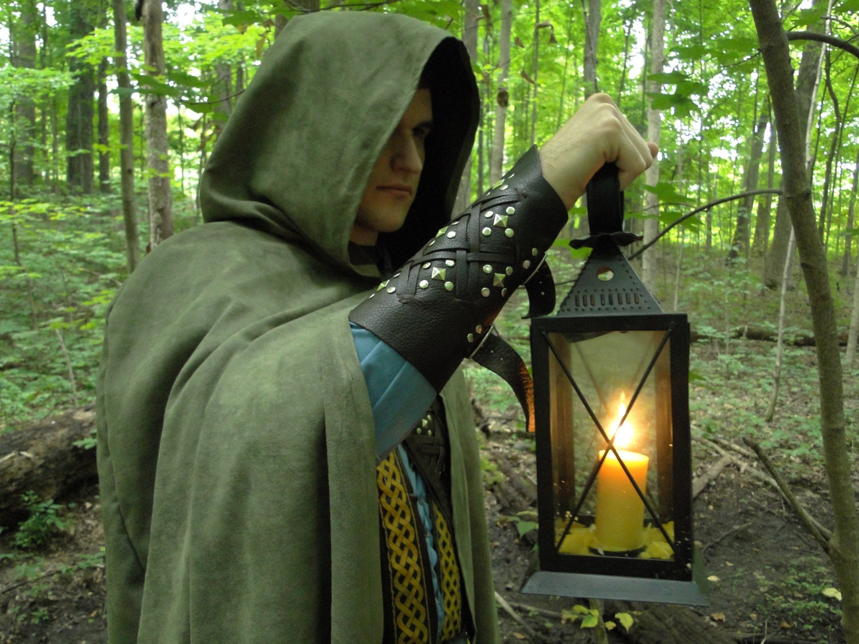 Renaissance Cape Medieval Cloak Hood Viking Ranger