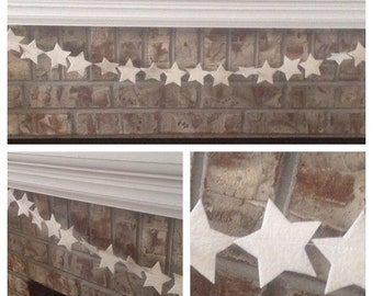 Felt 4th of July/ Americana/ Patriotic Star Garland Banner Decoration