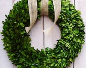 "16"" FRESH PRESERVED BOXWOOD Wreath-Spring Wreath-Spring Home Decor-Summer Wreath-Preserved Boxwood Door Wreath-Year Round Wreath-Wreaths"