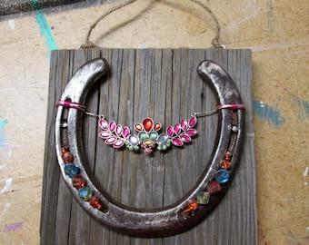 Hand Made Horse Shoe Art