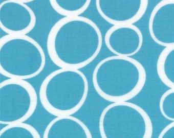 Mixed Bag from Studio M for Moda - Bubbles - Turquoise - Chill - 1/2 yard cotton quilt fabric 516