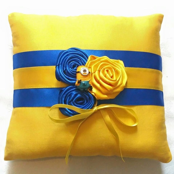 minions despicable me wedding ring pillow 6x6 by