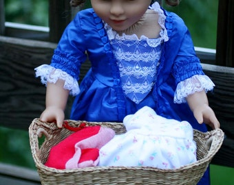 Vintage Small Tight Weave Basket, 1930's 40's Basket, 18 Inch Doll SIze Wicker Basket, Doll Size Laundry Basket, Soft Wicker Vintage Item.