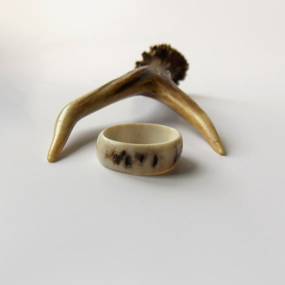 unisex antler jewelry deer antler ring rustic wedding band