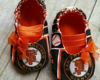 San Francisco Giants Inspired Baby Maryjane Booties