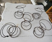 3 Old Rusty Bed Springs