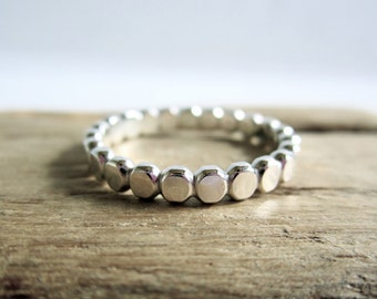Beaded Dot Sterling Silver Ring