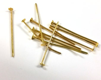 100 PCS - 26MM Headpin Gold Jewelry Finding C0926