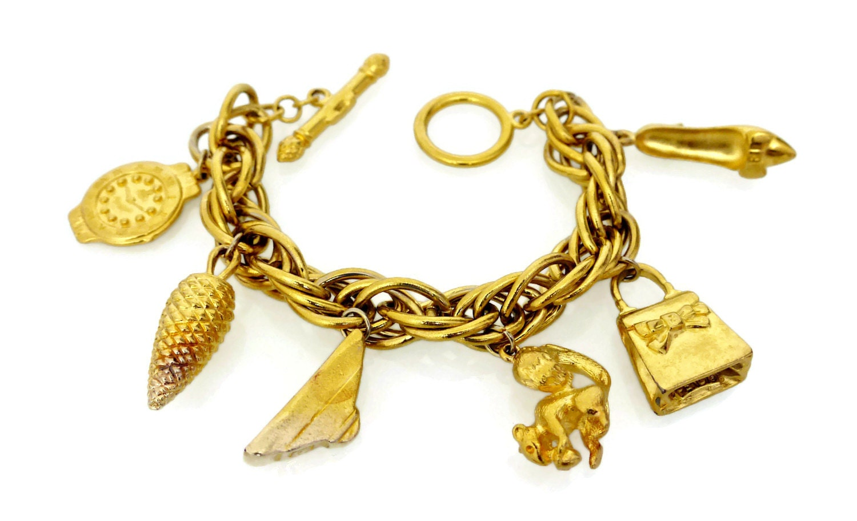 vintage fendi charm bracelet by vintagenmode on etsy