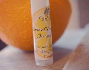 Some of Your Beeswax Orange Lip Balm