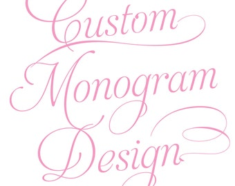 Custom Wedding Monogram Design / DIY Wedding Projects / Custom Wedding Logo Design / Custom Graphic Design