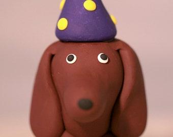 Dachshund Wiener Dog Birthday Cake Topper