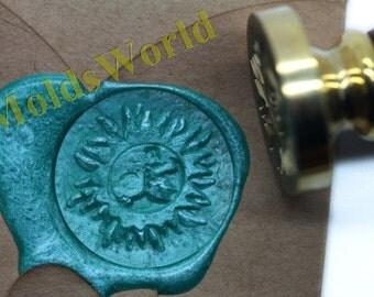 S1023 Sun Wax Seal Stamp , Sealing wax stamp, wax stamp, sealing stamp