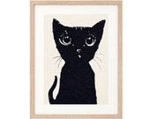 The Black Cat - Large Art Print - Sustainably Printed