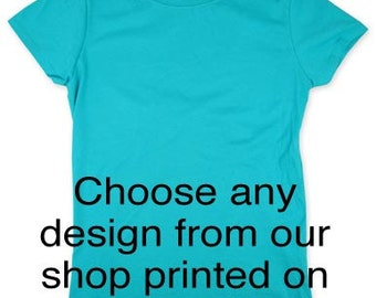 Custom Saying on Youth Girls T Shirt - Slim Fit Girls Tee