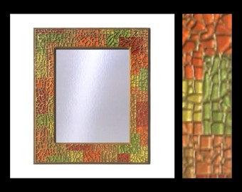 "Fiesta - Glass Mosaic Mirror (12""x14"")"