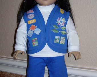 18 Inch Doll Clothes - Daisy Girl Scout Uniform