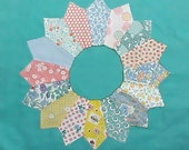 30 Beautiful Vintage Dresden Plate Hand Made Quilt Squares
