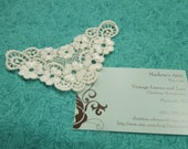 1 Ivory Venise Lace Yokes Collar Appliques for jewelry, bridal, wedding, altered couture, necklaces, bridal by MarlenesAttic - APP108
