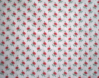 "Vintage Laura Ashley Fabric -  ""Carnations"" - 50 cms x 116 cms Wide (19.75"" x 46"")"