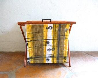 Vintage Knitting Craft Toy Basket