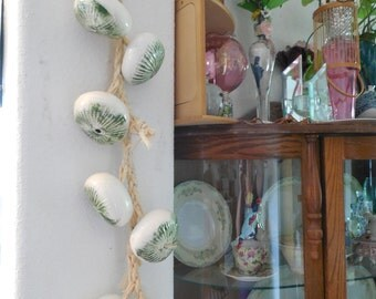 ceramic onions hanging decor.
