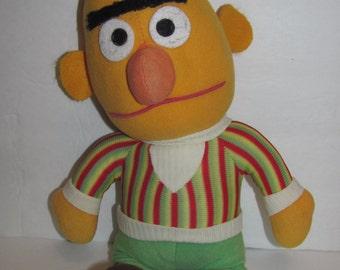 "Vintage 1970s Sesame Street Bert Knickerbocker Rag Doll Plush 15"" Inches Tall"