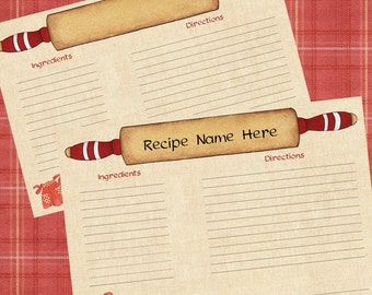 Vintage recipe cards | Etsy