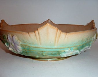 vintage roseville  Cosmos console bowl