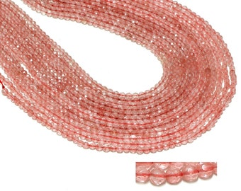 "GU-1650-2 - Cherry Quartz Faceted Round Beads - 6mm - Gemstone Beads - 16"" Full Strand"