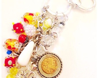 Colombia Keychain purse clip